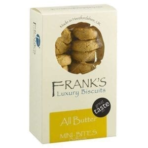 Franks Luxury Biscuits Boxed All Butter Mini Bites