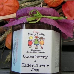 Gooseberry Elderflower Jam 300g
