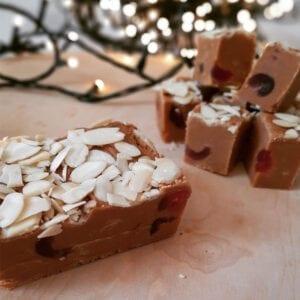 Mamas Fudge Cherry Bakewell Fudge