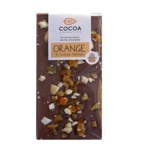 Orange Crushed Almond Milk Chocolate 100g