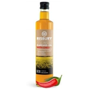 Risbury Cold Pressed Natural Rape Seed Oil With Chilli 250ml