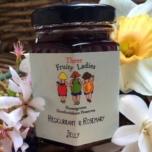 Three Fruity Ladies Redcurrant Rosemary Jelly 200g