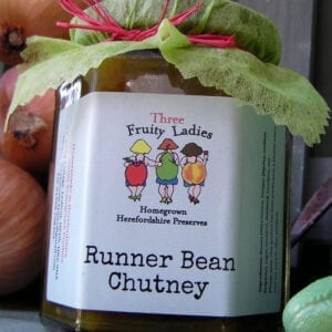 Three Fruity Ladies Runner Bean Chutney 300g