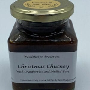 Woodthorpe Preserves Christmas Chutney With Cranberries & Mulled Port